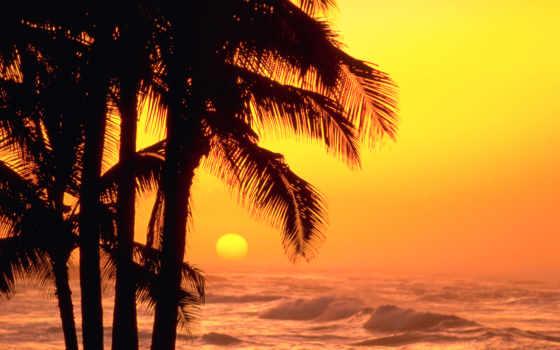 море, природа, закат