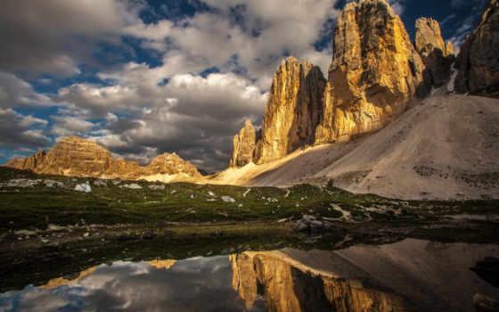 ozero, горы, priroda