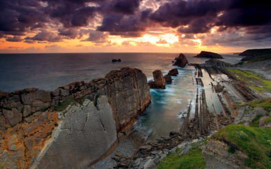 ,красивые, природа, море, небо, скалы,