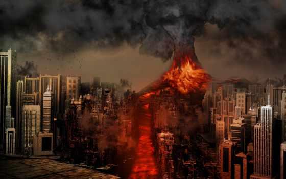 erupción, volcanes, volcán, erupcion, volcan, vectores, del, извержение, los,