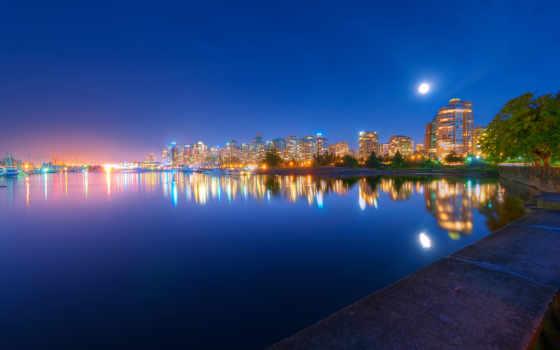 город, города, огни, ночь, full, красивые, море, луна, мост, сими,