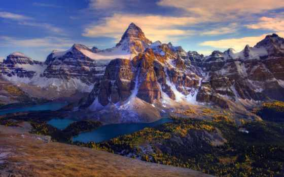 , канада, along, горы,
