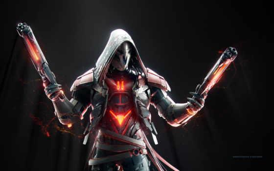 overwatch, reaper, game, video, часа, день, игры,