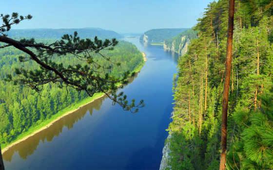 природа, пейзажи -, красивые, лес, нравится, река, landscape, очень,