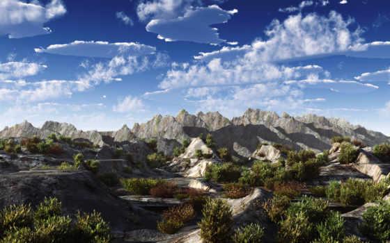 обои, горы, небо, фото, ru, осени, wpapers,