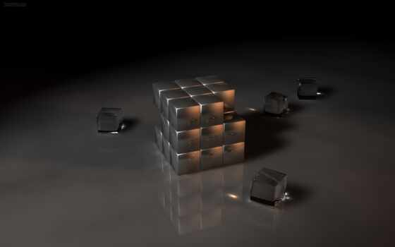 glass, cubes
