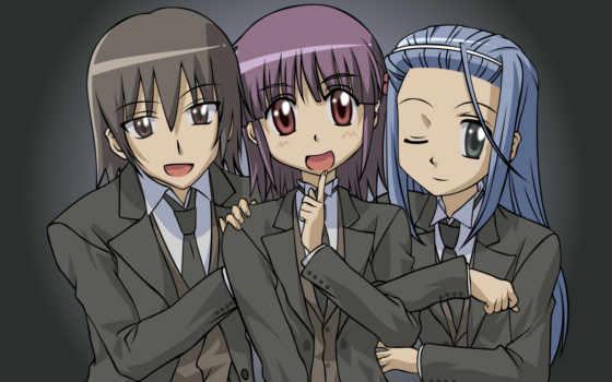 школьники, tie, anime