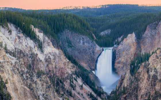 каньон, yellowstone, река