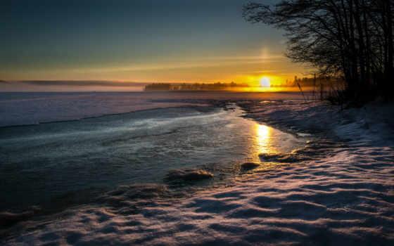 снег, сол, winter