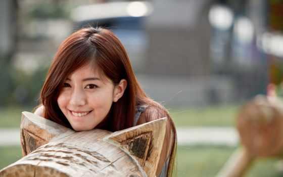улыбка, девушка, desktop, cute, happy,