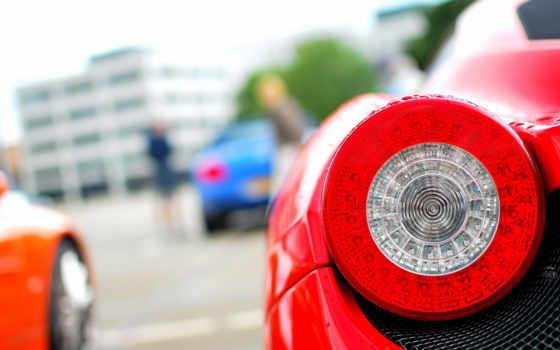 ferrari, cars, italia, фонари, art, closeup,
