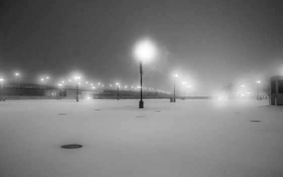 снег, фонарик, winter, white, black, город