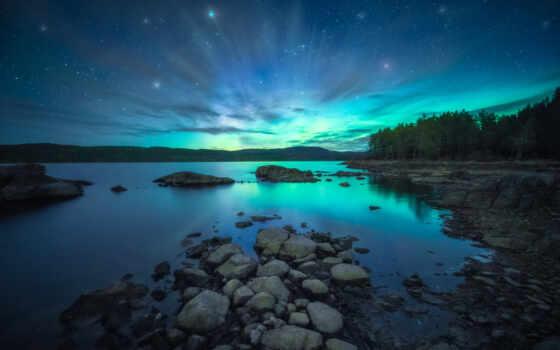 landscape, natural, свет, озеро