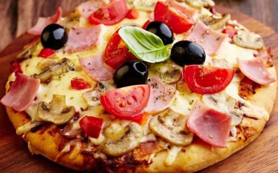 пицца, колбасой, сыром, пиццы, очень, рецепт,