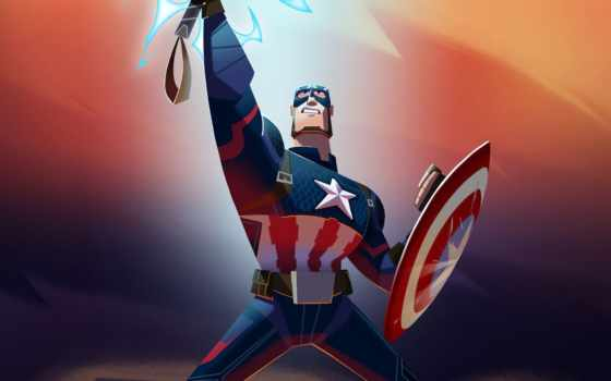 america, captain, thor, хаммер, marvel, iphone, animate