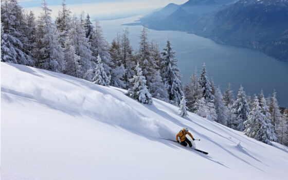 лыжи, снег Фон № 5371 разрешение 2560x1600