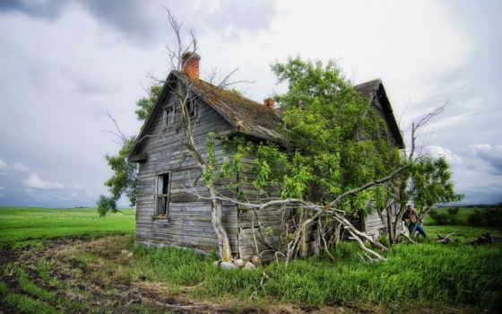 пейзаж, дом