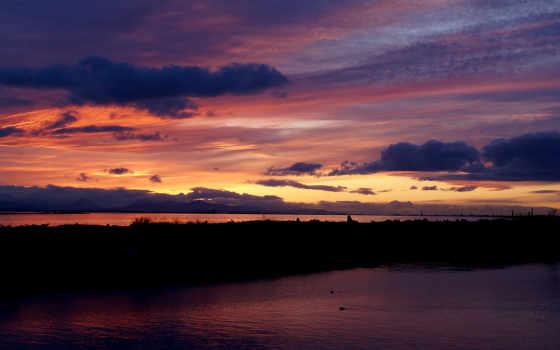 закат, небо, awesome