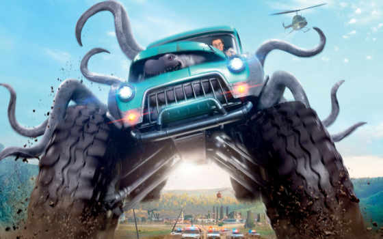 car, дек, monster, trucks, cinemex, сниматься, об, трио,
