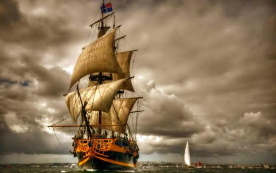 корабли, sailboat, парусники, телефон, корабль, понравилось, тучи, оставить,