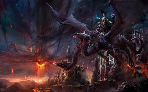 дракон, age, dragons, демон, картинка, game, fictional,