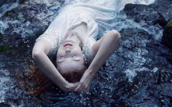 девушка, white, cup, юбка, спать, ветер, water, настроение, осень