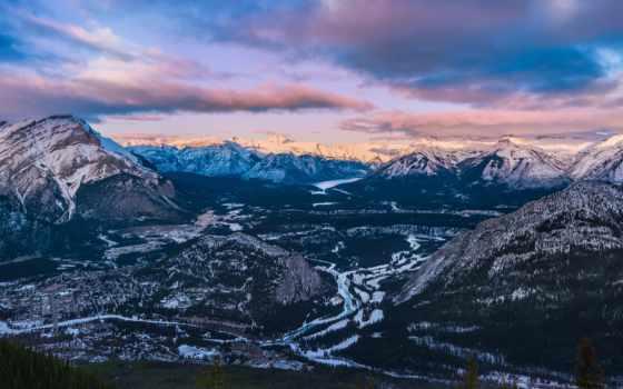 гора, banff, природа, горы, картинка, sulphur, landscape, park, desktop, альберта,
