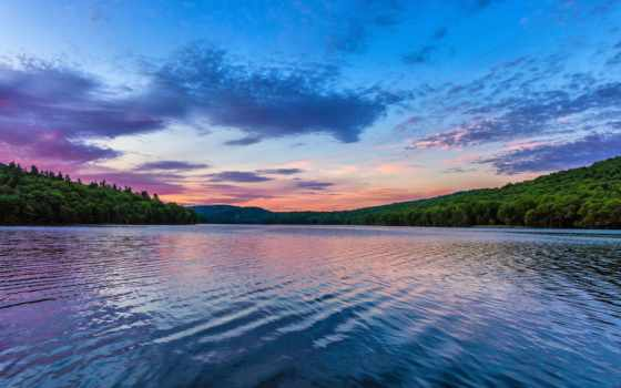 fondos, pantalla, lago, paisaje, amanecer, alta, paisajes, hermoso,