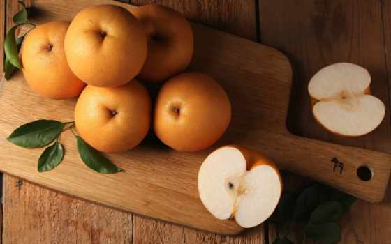 груша, черенок, китаянка, доска, boards, плод, фрукты, китайская,
