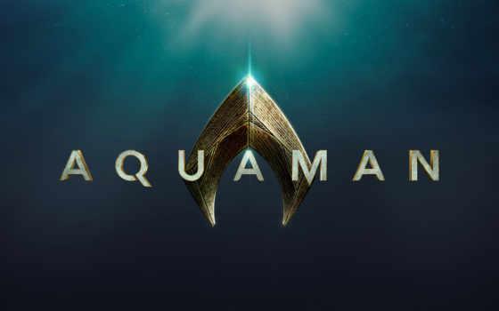 aquaman, logo, аквамен, производственный, bros, warner, кинотеатр, official, логотип,