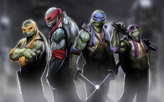donatello, леонардо, ninja, michelangelo, черепашки, turtles, rafael, mutant, teenage,