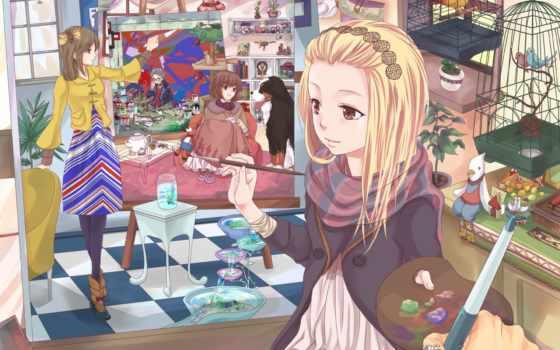 anime, manga, девушка, drawings, self, drawing, нас,