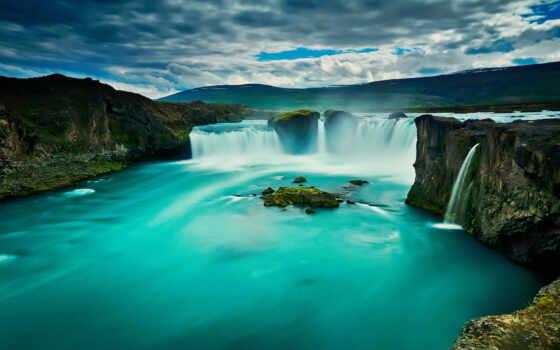 godafoss, водопад, iceland, качество, природа, resolution, фото
