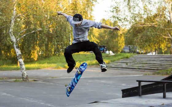 парень, прыжок