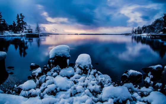 снег, стокгольм
