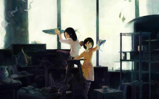 anime, краски, мастерская, art, категории, краска, девушка, кавай,