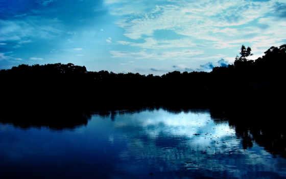 природа, blue, небо