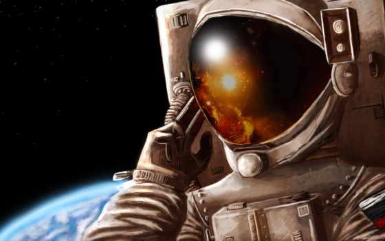 шлем, скафандр, космонавты, астронавт, картинка, cosmos, art, отражение, planet, glass, рисунок,