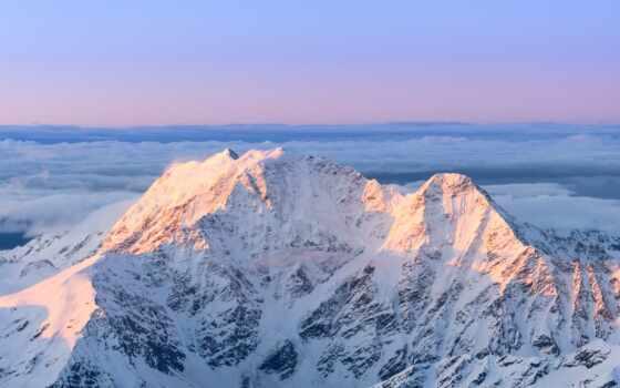 горы, glacier, кавказ