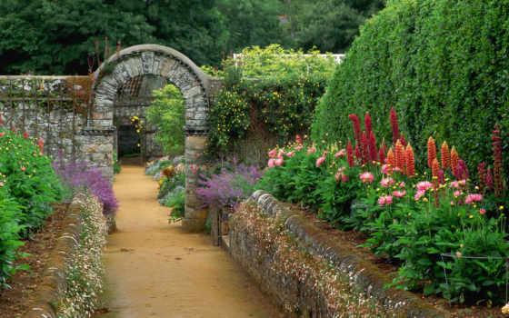 desktop, цветы, you, design, garden, тропинка,