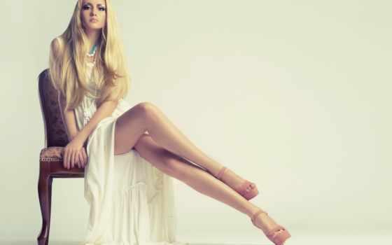 девушка, платье, blonde