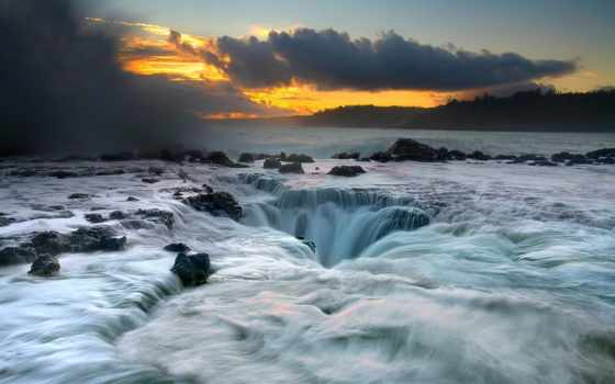 kauai, hawaii, пляж, оттенок, world, mobile, desktop,