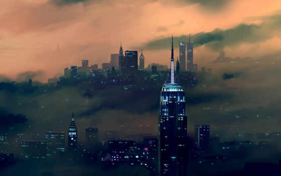 new, state, империя, building, город, york, ночь, cityscape,