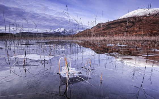 озеро, winter, desktop, лед, frozen, горы, снег, belakang,