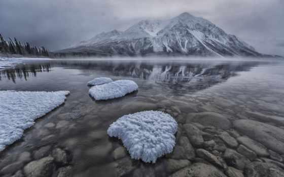 дымка, горы, winter