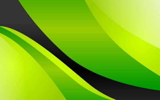зелёный, wavy, desktop, abstract, фон,
