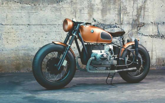 мотоцикл, bmw, мотоциклы, ретро, браун, мото, that, you, взгляд,