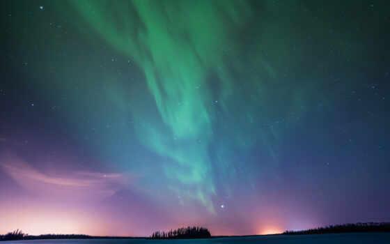 ipad, огни, northern, pro, mobile, astotin, aurora, озеро, resolution, фон