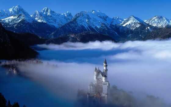 castle, нойшванштайн, нойшванштайн, лебедь, new, bukvalnyi, fussnyi, деревня, veko, xix, rock