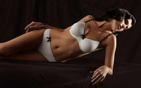тело, девушка, красивый, lingerie, белье, cloth, blonde, лежа, white, dark, абстракция